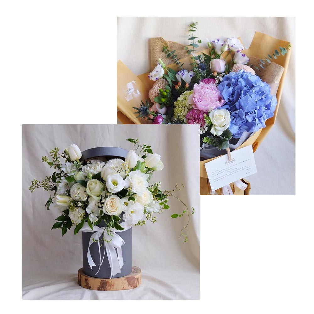 (Bundle Package) Learn How To Make A Flowerbox & Bouquet