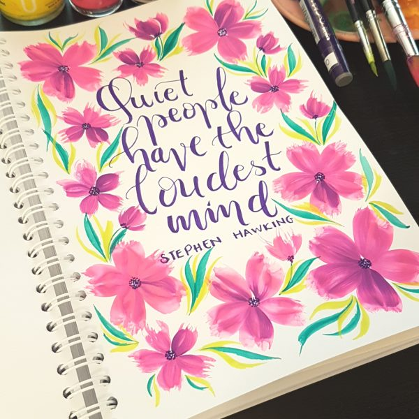 Learn How To Make Floral Watercolor For Beginner And The Non