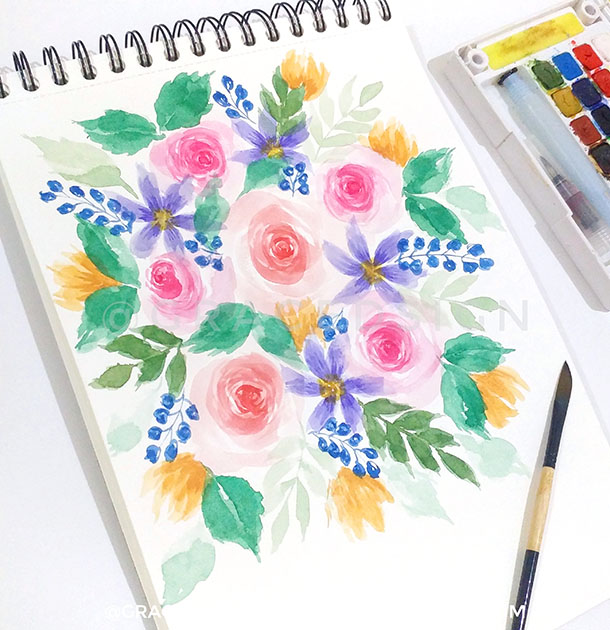Flower Watercolor Painting