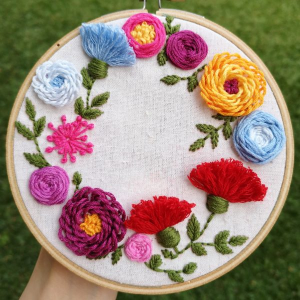 Learn How to Make Spring Wreath Hoop Art