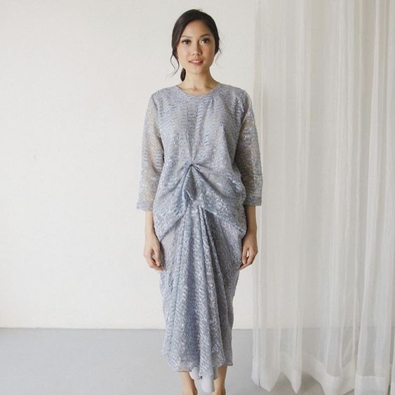 Learn How to Make Your Own Kaftan Brokat Drapery (Kaftan Lebaran ...