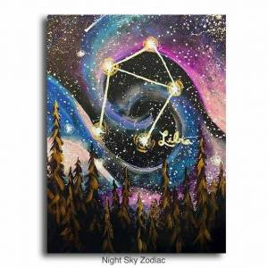 (Acrylic Painting) Learn How To Paint Cosmic And Zodiac Themes