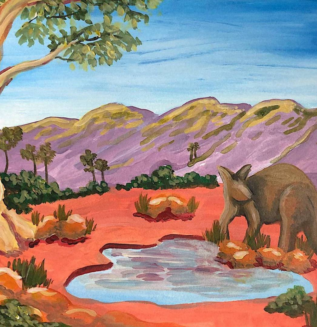 Learn How to Paint The Kangaroo's Pond