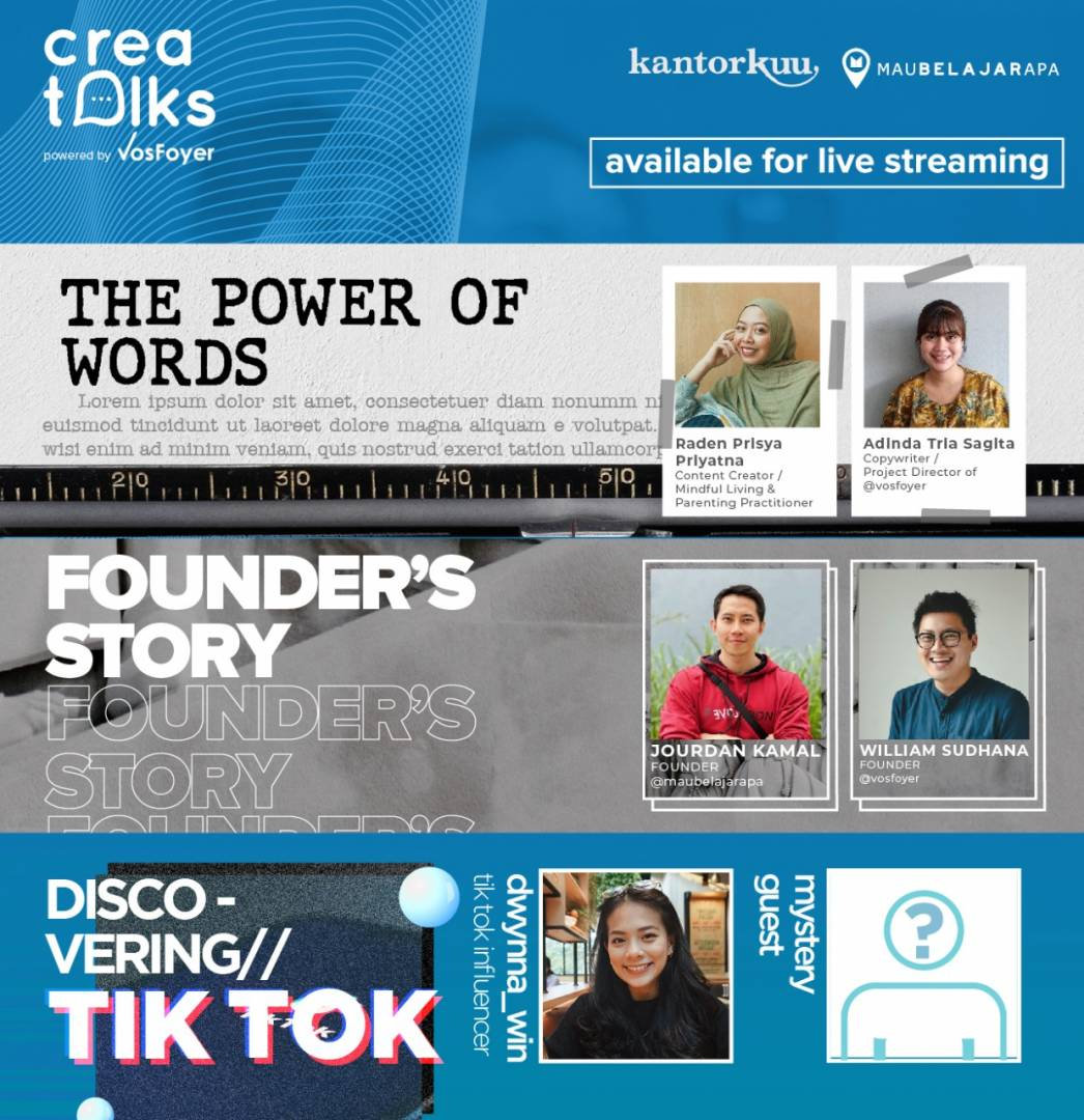 CREATALKS series: From Words to Business and Trend