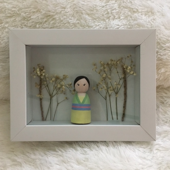 Learn How To Paint In Wooden Doll And Decorate Frame