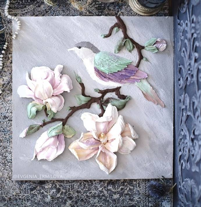 Learn How To Make Bird Magnolia Sculpture Painting With Evgenia Ermilova