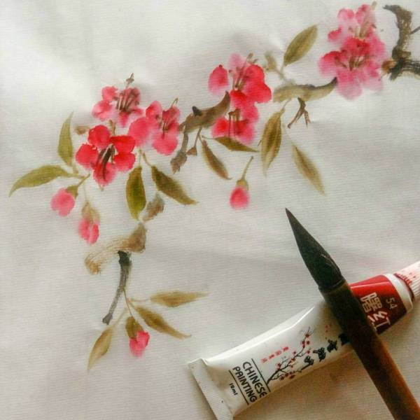 Learn How To Paint Cherry Blossom with Chinese Painting Technique