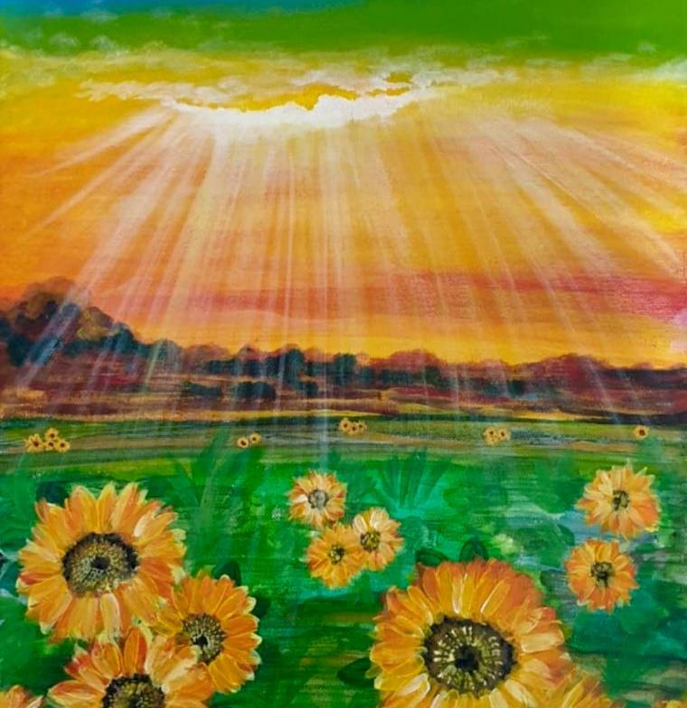 (Acrylic Painting) Learn How To Paint Sunflowers