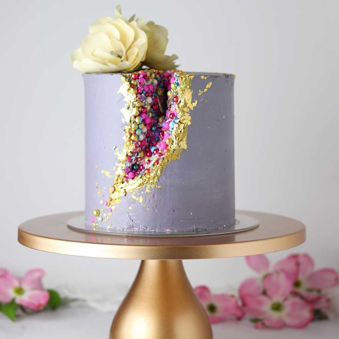 Learn How To Decorate A Geode Cake with Chef Atty