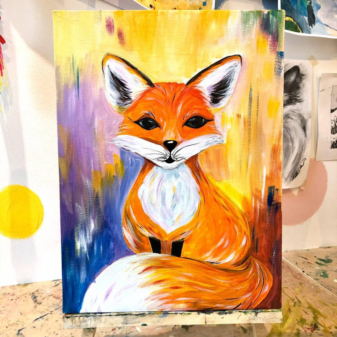 (Acrylic Painting) Learn How To Paint Fox