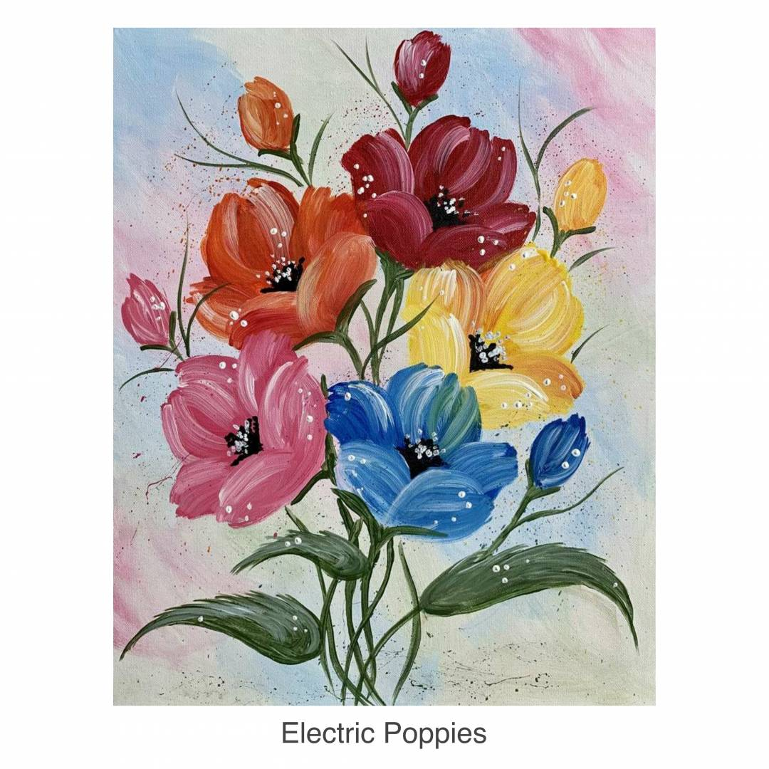 Acrylic Painting Learn How To Paint Floral Themes Maubelajarapa