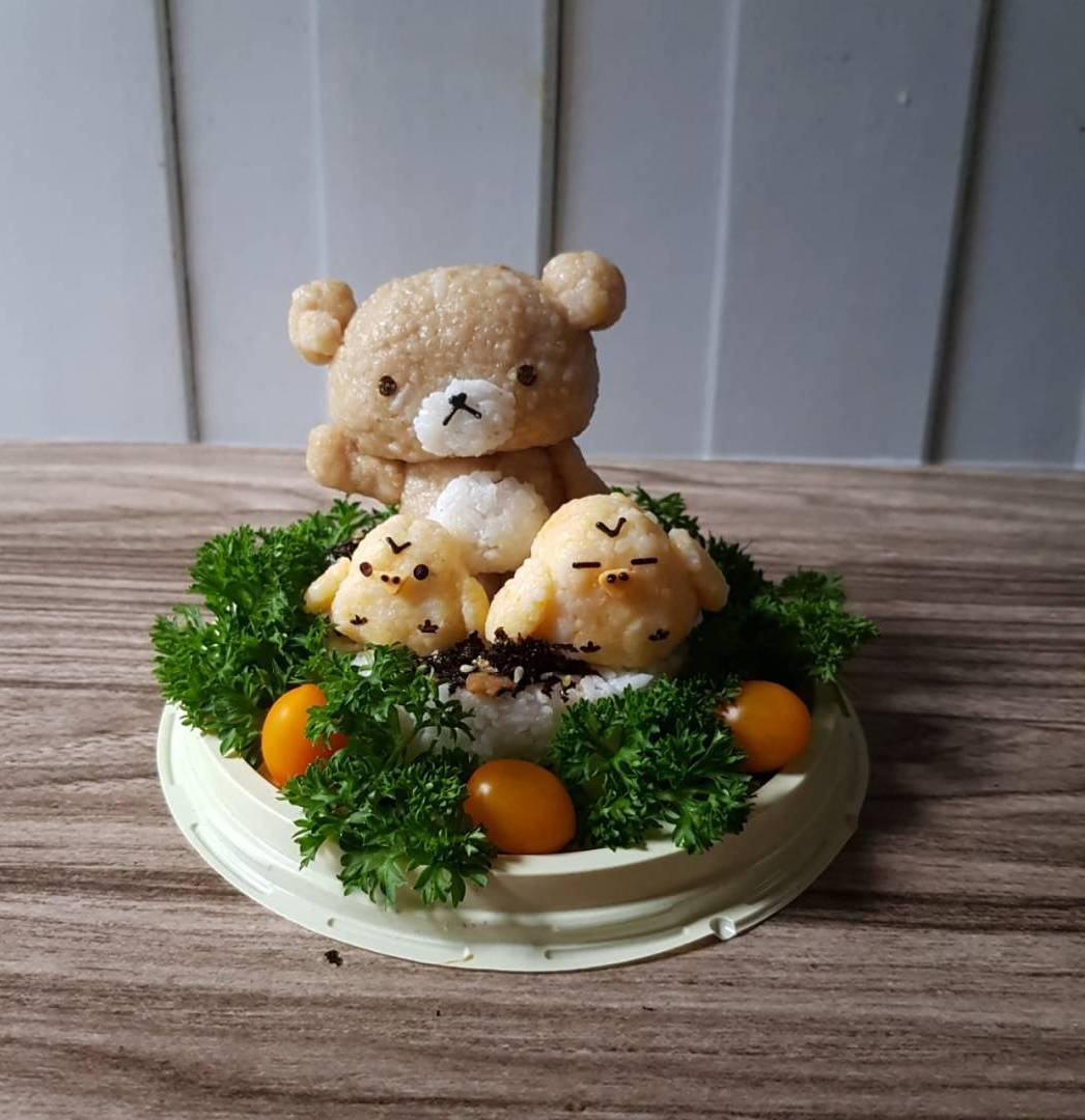 Learn How To Make 3D Rillakkuma Rice Cake