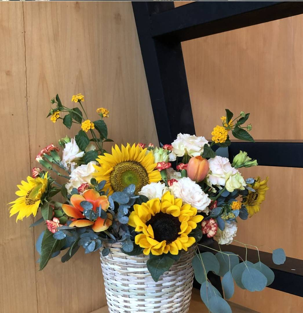 Learn How To Create A Sunflower Basket
