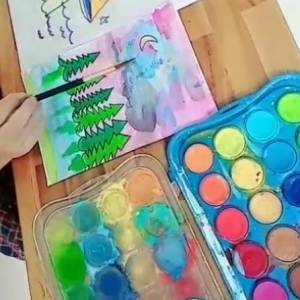 Learn How To Draw With Watercolor Paint For Kids