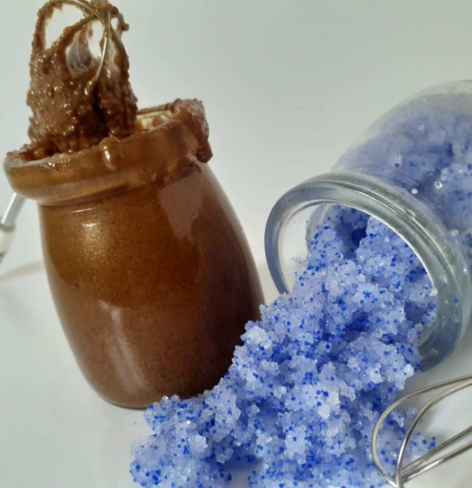 Learn How To Make Ocean Blue And Caramelized Sugar Scrub