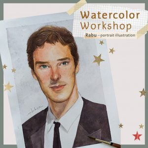 Learn Watercolor Portrait Illustration
