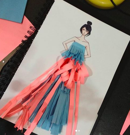 Learn How To Express Creativity With Colored Papers On Fashion Illustration