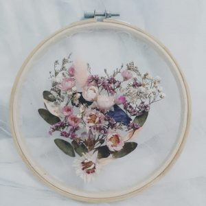 Learn How To Make Love Hoop Art