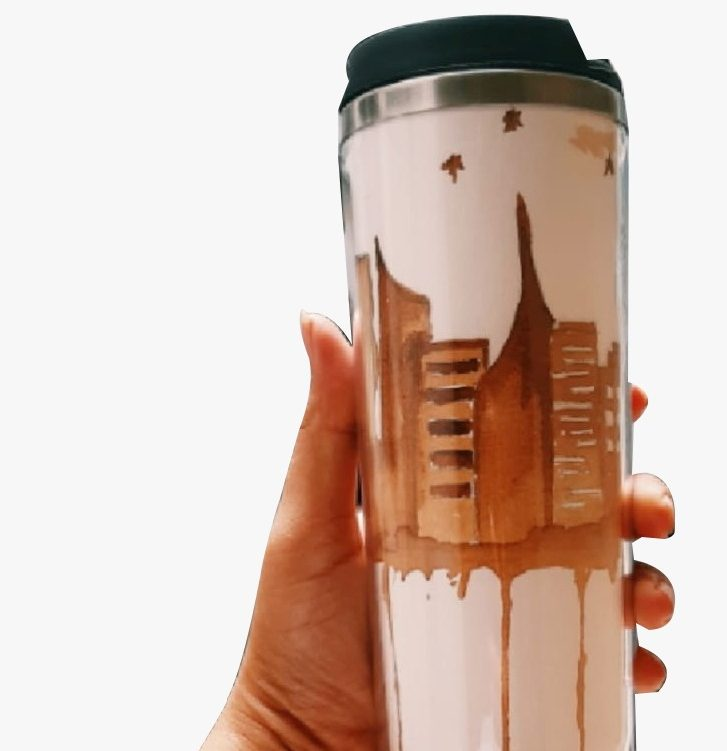 Learn How To Paint Your Own Tumbler With Coffee