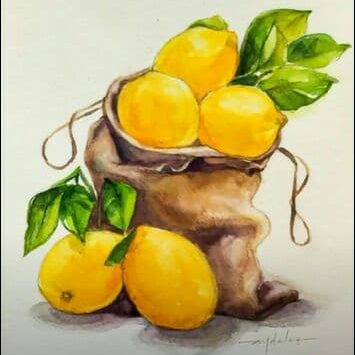 Learn How To Paint Fruit Illustrations With Watercolour