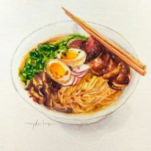 Learn How To Paint Ramen Illustrations With Watercolour