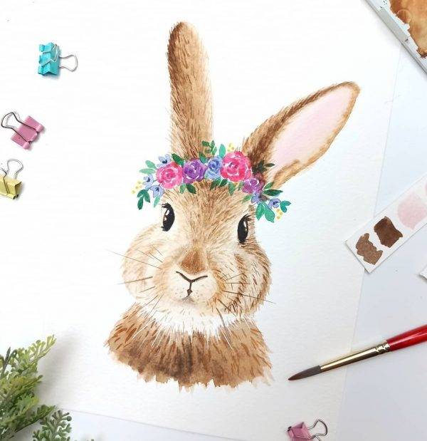 Learn The Basic of Watercolor Cute Bunny