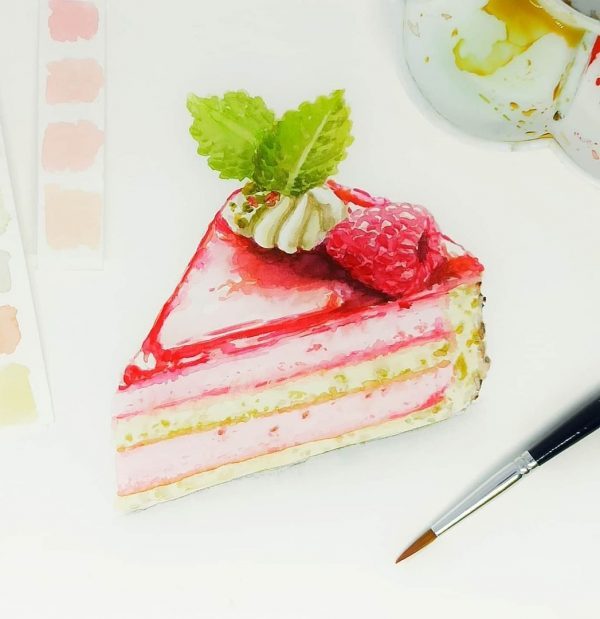 Learn The Basic Of Watercolor Cake Illustration